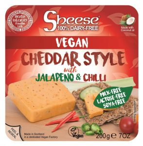Sheese Vegan Cheddar Style with Jalapeno and Chilli